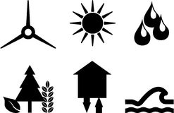 Pictogramms sustainable energy Royalty Free Stock Image