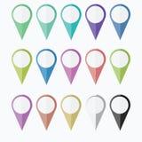 Pictogramnavigator GPS velen kleur vector illustratie