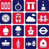 pictograms Великобритания иллюстрация вектора