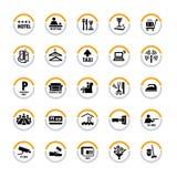 pictograms гостиницы Стоковая Фотография