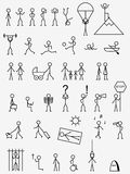 pictograms Royaltyfri Bild