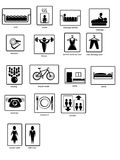 pictograms Arkivfoton