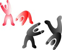 Pictograms having a great time.. Royalty Free Stock Images