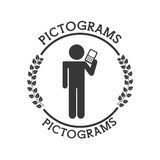 Pictograms human silhouettes Stock Image
