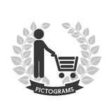 Pictograms human silhouettes Stock Photography