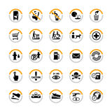 pictograms info общественные Стоковые Фото