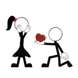 Pictograms love stick man and girl2 Stock Photo