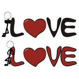 Pictograms love stick man and girl8 Royalty Free Stock Photos