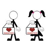 Pictograms love stick man and girl9 Stock Photo