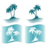 Pictograms, Palms Silhouettes Royalty Free Stock Photos