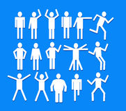 Pictograms people Stock Images