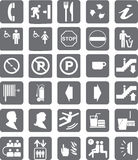 Pictograms. A pictogram, is an ideogram that conveys its meaning through its pictorial resemblance to a physical object. Pictographs are often used in writing Stock Photo