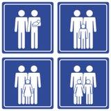 pictograph семьи 2 папаов Стоковое Изображение