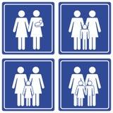 pictograph 2 мам семьи Стоковые Изображения RF