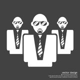 Pictograph of businessman. Icon vector Royalty Free Stock Photo