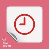 Pictograph of  clock Stock Image