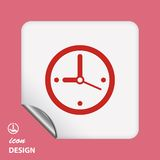Pictograph of clock Royalty Free Stock Photo