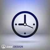 Pictograph of  clock. Vector concept illustration for design. Eps 10 Royalty Free Stock Photo