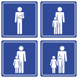 Pictograph; family - 2 dads Stock Photo