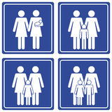 Pictograph; Family - 2 moms Royalty Free Stock Images