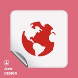 Pictograph of globe Royalty Free Stock Photography