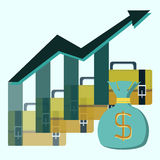 Pictograph of graph Stock Images