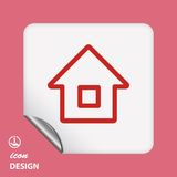 Pictograph of home Royalty Free Stock Image