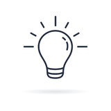 Pictograph of light bulb. Lamp line icon on white background. Vector illustration Stock Photography