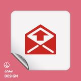 Pictograph of mail Stock Image