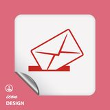 Pictograph of mail Royalty Free Stock Images