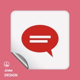Pictograph of message or chat Stock Photo