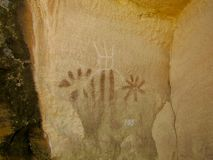 Pictograph panel at McConkie Ranch near Vernal, Utah. Stock Photography