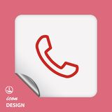 Pictograph of phone Royalty Free Stock Image