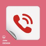 Pictograph of phone Royalty Free Stock Photo