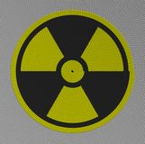 Pictograph radioactive build from ropes Stock Photos