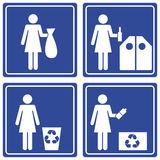 Pictograph - recycle Stock Photos