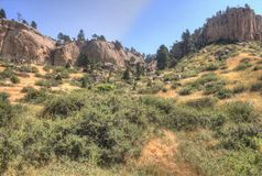 Pictograph State Park outside of Billings, Montana in Summer. Nature Stock Image