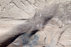 Pictographes d'Anasazi chez Canyon de Chelly Photos stock