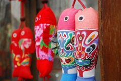 Pictographic fish ethnic handicrafts Stock Photo