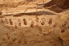 Pictographs of Hands Stock Photos