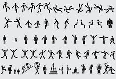 Pictographs, icons Stock Photos