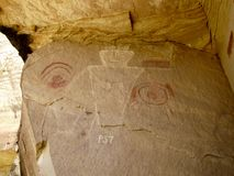 Pictographs at McConkie Ranch near Vernal, Utah. royalty free stock photos