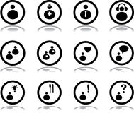 Pictographs of people in circle Stock Image