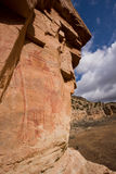 Pictographs of Snake Gulch Stock Photo