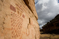 Pictographs of Snake Gulch Royalty Free Stock Photo