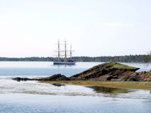 Picton Castle. The Picton Castle at anchor in Lahave Dublin Shore Lunenburg County Nova Scotia Canada Royalty Free Stock Photography