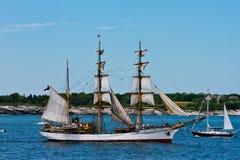 Picton Castle sails in Newport, RI. Stock Images