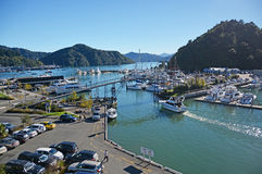 Picton Marina & Tourists on an Autumn Morning. Royalty Free Stock Image