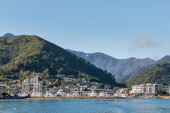 Picton in Marlborough Sounds, New Zealand Stock Photos
