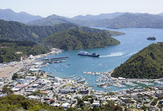 Picton Resort Town. The view of Picton resort downtown (New Zealand Royalty Free Stock Images
